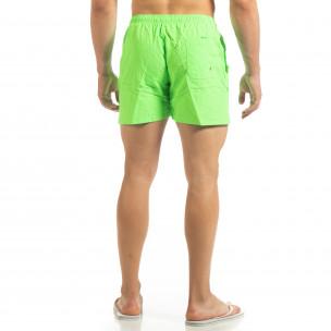 Șort de baie verde neon Basic pentru bărbați  2