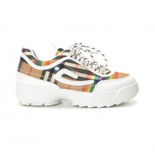 Pantofi sport de dama Chunky cu carou