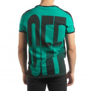 Tricou verde ON/OFF pentru bărbați  2