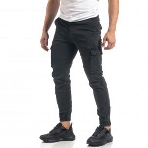 Pantaloni cargo de bărbați gri cu fermoare 2