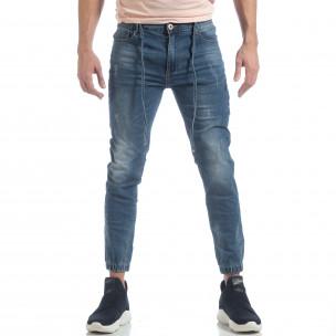 Jogger Jeans albastru pentru bărbați 2