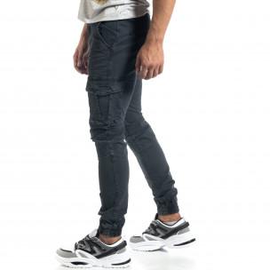 Pantaloni cargo de bărbați gri în stil Rock