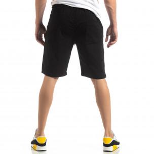 Pantaloni scurți Basic în negru pentru bărbați  2
