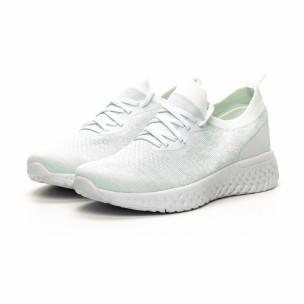 Pantofi sport albi ușori de dama tip șosetă 2