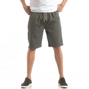 Pantaloni scurți Basic în verde pentru bărbați