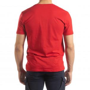 Tricou roșu pentru bărbați cu imprimeu 2