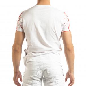 Tricou de bărbați Supple în alb Lagos 2