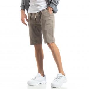 Pantaloni scurți Basic în gri pentru bărbați 2