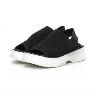 Sandale de dama negri tip șosetă 2