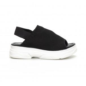 Sandale de dama negri tip șosetă