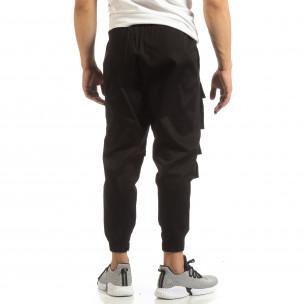 Pantaloni pentru bărbați Cropped negri cu buzunare  2