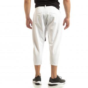 Pantaloni albi Cropped pentru bărbați Just West 2