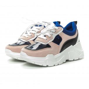 Pantofi sport de dama roz cu părți transparente 2