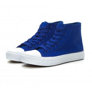 Teniși înalți albaștri Basic pentru dama 2