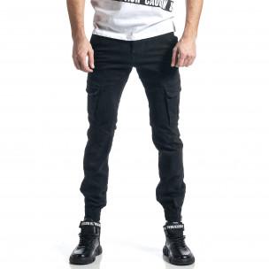 Pantaloni cargo bărbați G-9 negri
