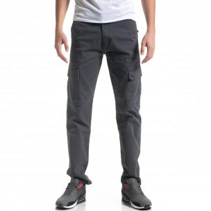 Pantaloni cargo gri de bărbați Regular fit