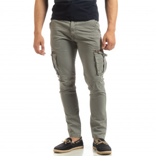 Pantaloni cargo gri drepți pentru bărbați Furia Rossa 2