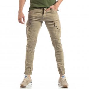 Pantaloni cargo bărbați XZX-Star bej XZX-Star 2