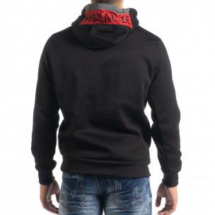 Hanorac de bărbați hoodie cu accent roșu 2