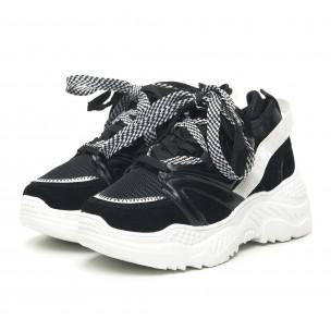Pantofi sport de dama negri design Chunky 2