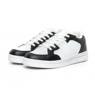 Teniși Skate în alb și negru pentru bărbați  2