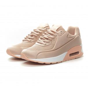 Pantofi sport de dama din satin roz cu pernă de aer 2