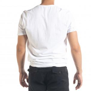 Tricou bărbați Ficko alb  2