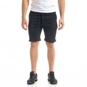 Pantaloni scurți bărbați Alpini Firenze negri