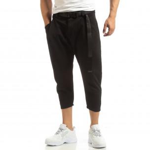 Pantaloni negri Cropped pentru bărbați Just West 2