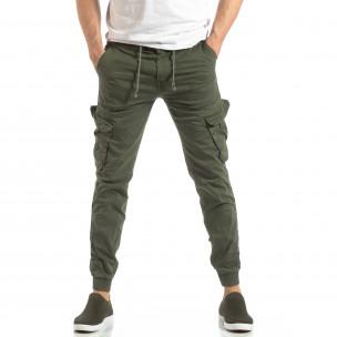 Jogger Cargo în verde militar pentru bărbați 2