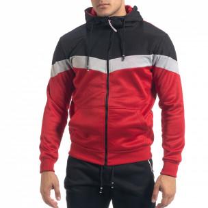 Set sportiv în roșu și negru Biker pentru bărbați M&2 2