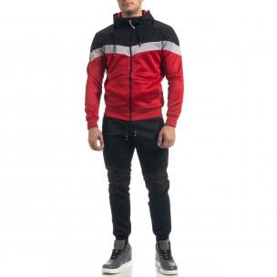 Set sportiv în roșu și negru Biker pentru bărbați M&2