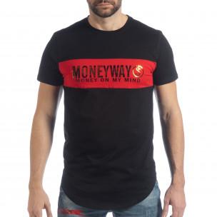 Tricou pentru bărbați negru Money Way  2