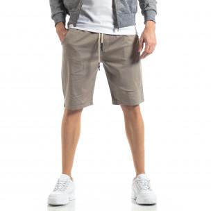 Pantaloni scurți Basic în gri pentru bărbați