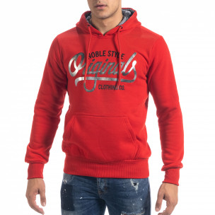 Hanorac hoodie de bărbați roșu Originals