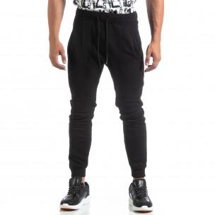 Biker Jogger de bărbați din tricot negru