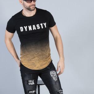 Tricou negru Dynasty pentru bărbați