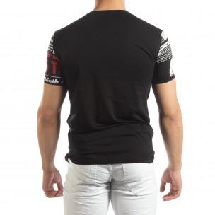 Tricou negru pentru bărbați Exclusive News  2