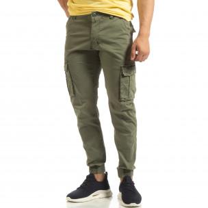 Pantaloni verzi cargo jogger pentru bărbați