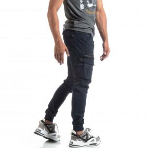 Pantaloni Cargo Jogger albaștri pentru bărbați