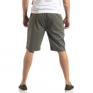 Pantaloni scurți Basic în verde pentru bărbați  2