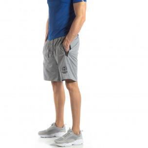 Pantaloni sport scurți gri pentru bărbați