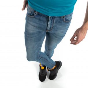 Blugi elastici albaștri slim fit pentru bărbați  2
