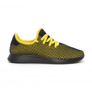 Adidași ultra ușori în negru și galben Mesh pentru bărbați 2