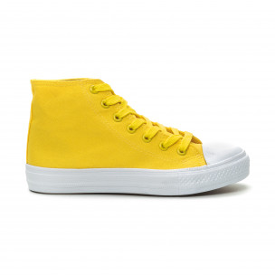 Teniși înalți galbeni Basic pentru dama