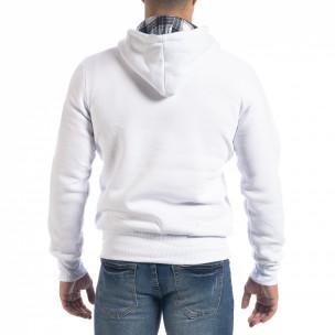 Hanorac hoodie de bărbați alb Originals 2