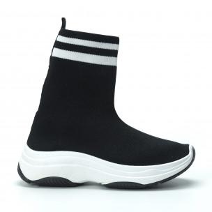 Pantofi sport tip șosetă negri pentru dama 2