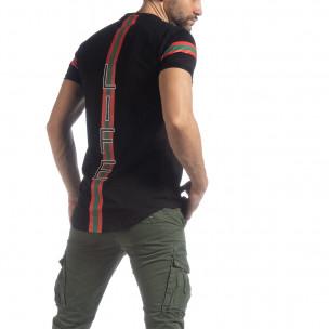 Tricou pentru bărbați negru More Life Stripe