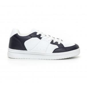 Teniși Skate în alb și albastru pentru bărbați