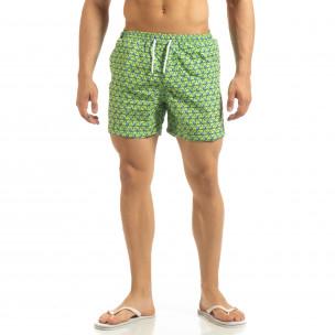Șort de baie verde pentru bărbați motiv Octopus